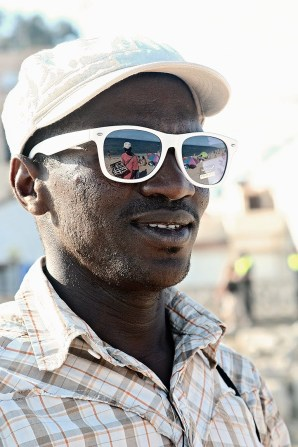 Senegalese seller in Barcelona, 2010.