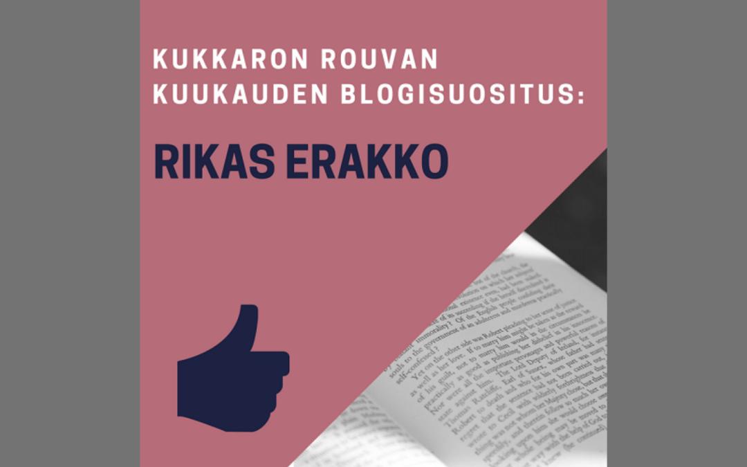 Kuukauden blogisuositus: Rikas Erakko
