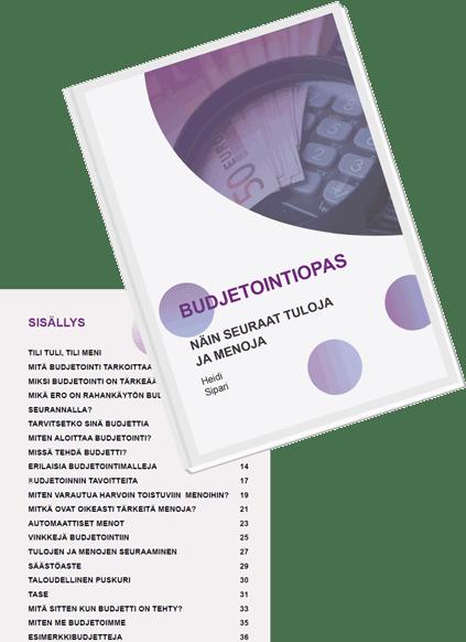 Budjetointiopas ja sisällysluettelo