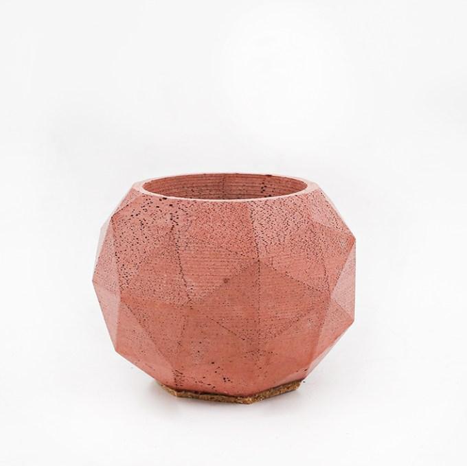 Planter Pot Roma Via dei fori Imperiali, terracotta. Octogonal shape handmade in Berlin by Kula.