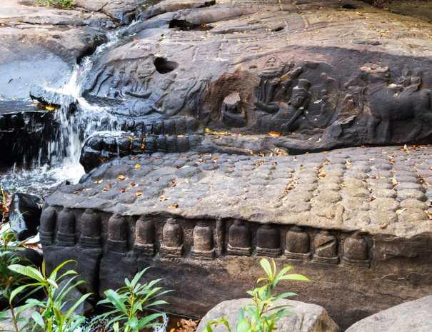 Carving of Shiva at Kbal Spean - Phnom Kulen National Park