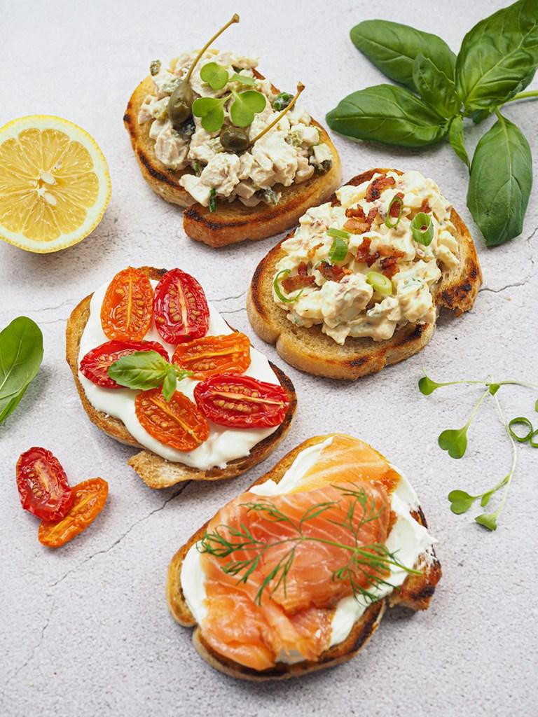 Tartine eli ranskalainen voileipä on upea pikkusuolainen tarjottava.