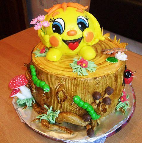 Детские торты с мастикой Фото тортов с мастикой для детей
