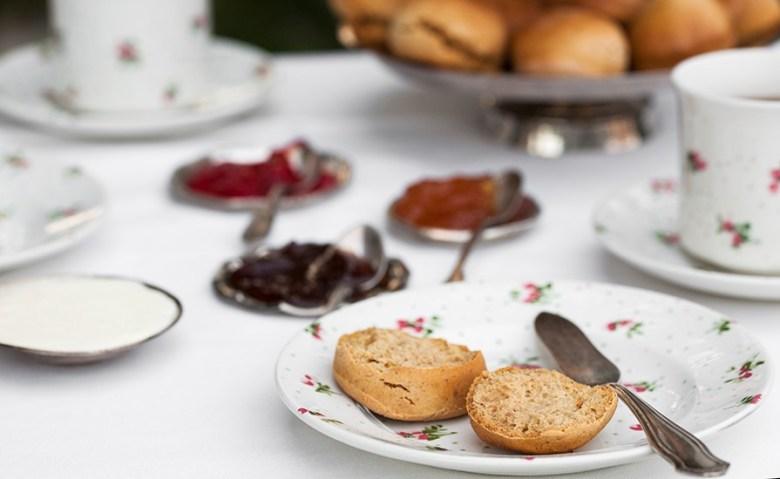 scones, clotted cream, skonki