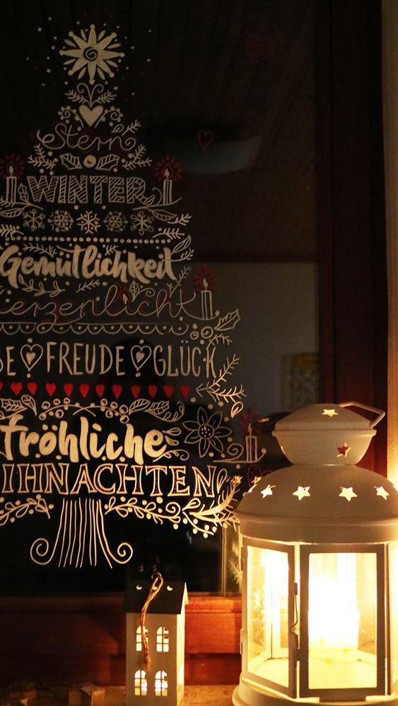 DIY Weihnachten Am Fenster Fensterbilder Mit