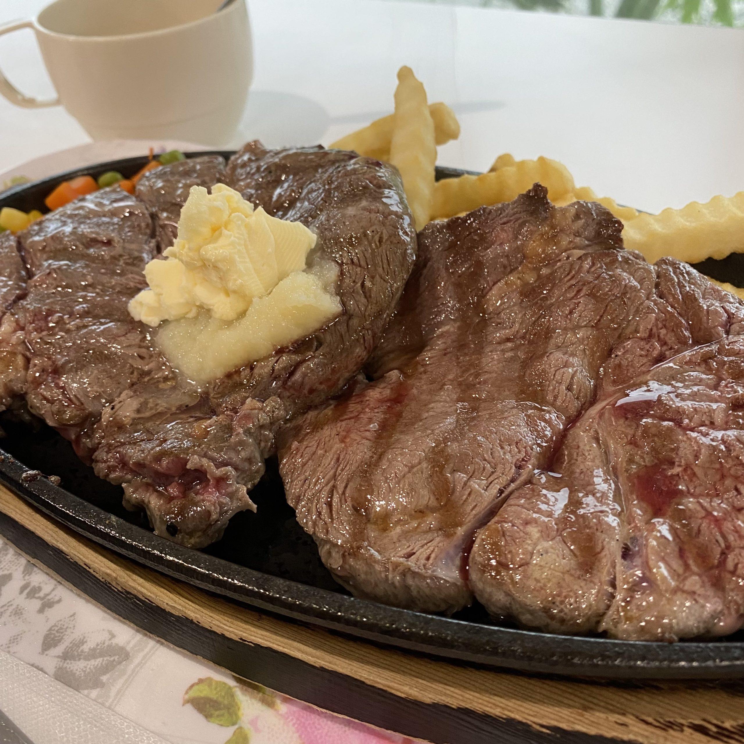 マイハウスのステーキ