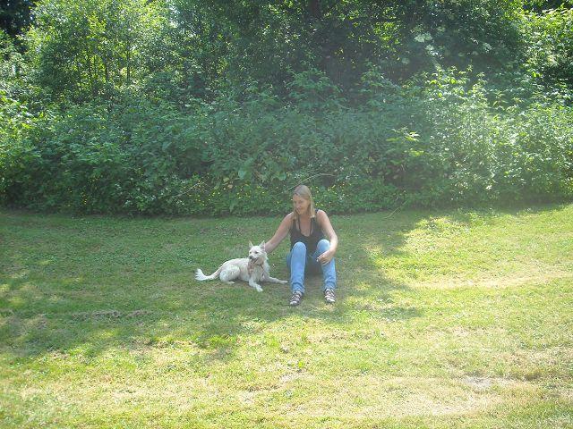 Früher saß ich dort mit Kessi, heute mit Emma :)