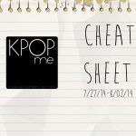 K-Pop Release Cheat Sheet 07/27-08/02/14
