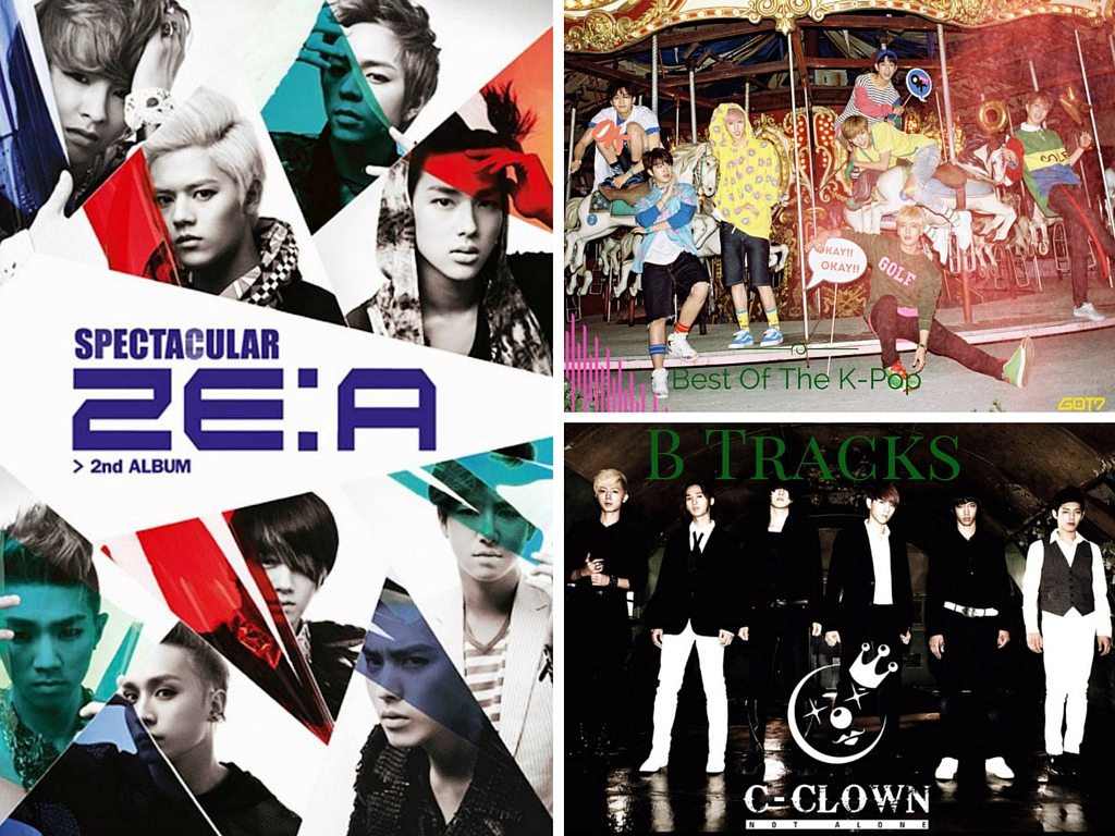 K-Pop B Tracks, ZE:A, GOT7, C-CLOWN, B.AP, SHINHWA
