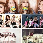 EXID, Spica, Brown Eyed Girls, Mamamoo, Lovelyz