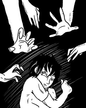 Plötzlich ein Messer in der Hand