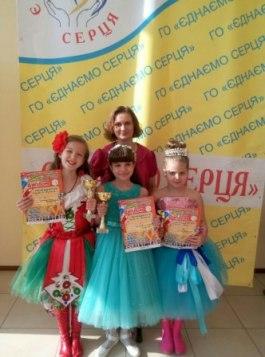 Ірина Красовська з учнями класу сольного співу