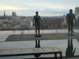 Schöne Aussichten auf der Terrasse des Centre Pompidou in Paris 2013.