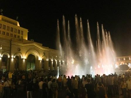 Wasserspiele am Republiksplatz