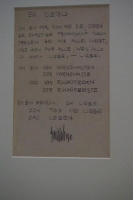 Ein wunderschönes Gedicht von Egon Schiele