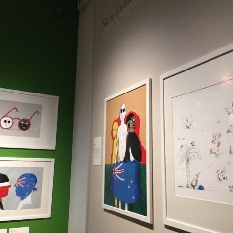 """Helme Heines Bilder in der Ausstellung """"Spiegelbilder"""" im Museum Fünf Kontinente"""