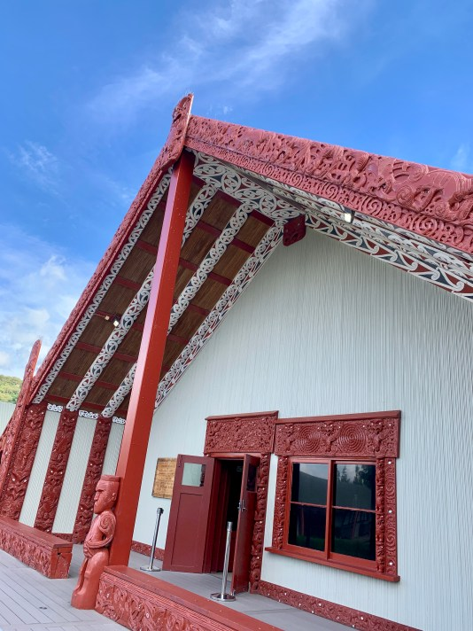 The marae (meeting grounds), a focal meeting point of Māori communities