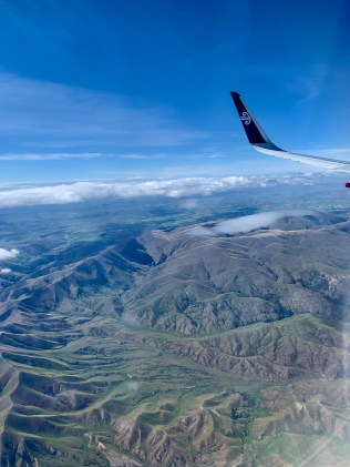 Flying to the South Island