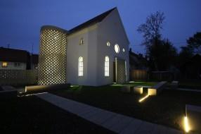 Die ehemalige Synagoge in Fellheim nach dem Aufbau kurz vor der offiziellen Eröffnung ©Roland Schraut