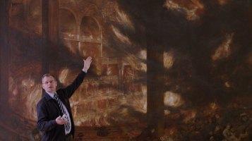 Vor dem Gemälde von dem Brand