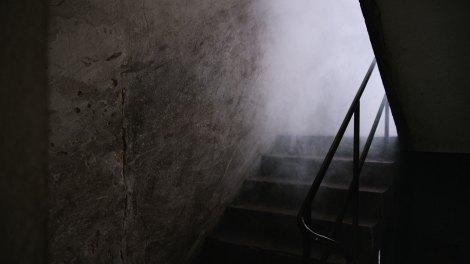 Rundgang im Keller der Polizeizentrale
