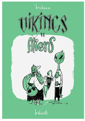 """Vikings vs Aliens"" von Thomas Kriebaum im Comicautomaten in der Kabinettpassage"