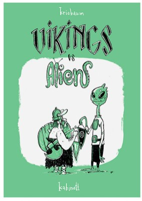 """""""Vikings vs Aliens"""" von Thomas Kriebaum im Comicautomaten in der Kabinettpassage"""