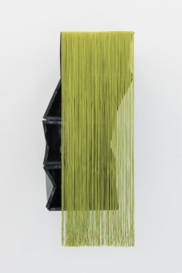 Ana Santos Untitled, 2015 Found object, polyester threads 83x35x3cm Courtesy Galerie Quadrado Azul