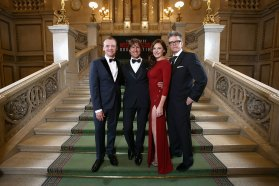 Tom Cruise, Simon Pegg und Christopher McQuarrie in der Wiener Oper © Vienna Film Commission