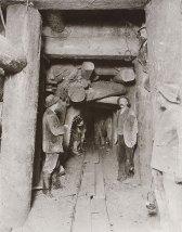Arbeiter beim Tunnelbau, 1905 © Technisches Museum Wien, Eisenbahnarchiv