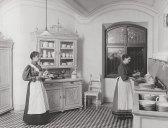 Küchenpersonal des 'Silbererschlössls', um 1898 © Gemeinde Semmering