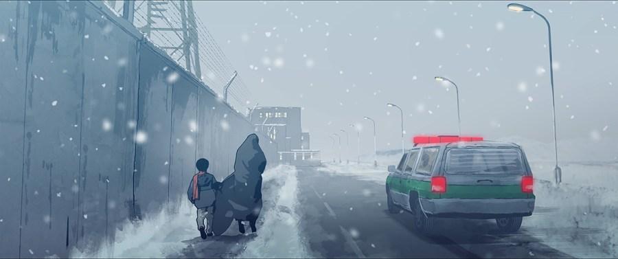 Elias und Pari laufen durch den Schnee © Filmladen Filmverleih