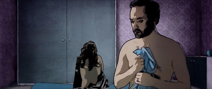 Unerwartetes Aufeinandertreffen: Saras Ehemann Mohsen und die Prostituierte Pari wenden sich voneinander ab © Filmladen Filmverleih