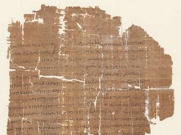 Papyrusurkunde zum Indienhandel Ägypten, 2. Jh.n.Chr.