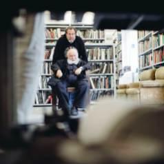 Hermann Nitsch und Julian Schnabel, Wien, 2018 © Marlene Fröhlich I luxundlumen