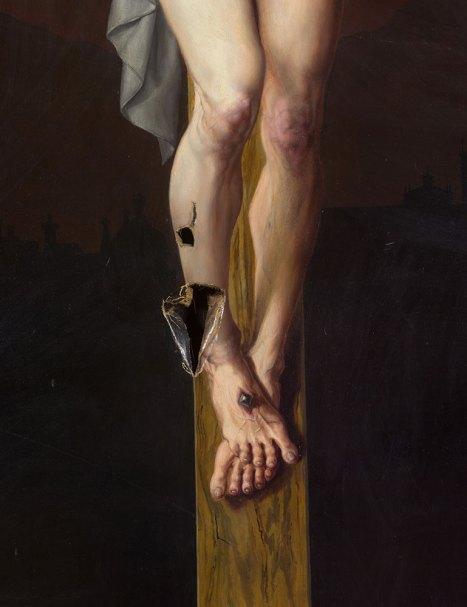 Unbekannt, Kreuzigungsbild aus dem Erzbischöflichen Palais (Detail), Ende 19. Jh. Erzbistum Wien Foto: Lena Deinhardstein