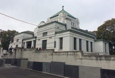 Aufbahrungshalle mit darunterliegendem Bestattungsmuseum Zentralfriedhof