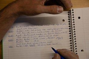 Akkribisch dokumentiert Alex die Vorbereitungen in seinem Trainingsjournal © National Geographic / Jimmy Chin