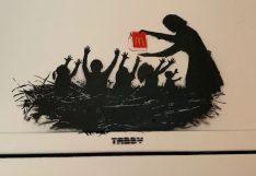 Klein aber mit Botschaft: ohne Titel by TABBY