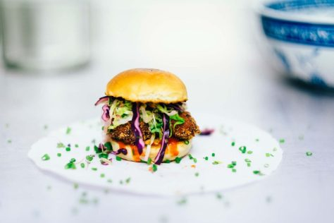 A tiny burger.