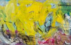 """""""Gelber Rausch"""", 2014, Acryl auf Leinwand, 140x89 cm"""