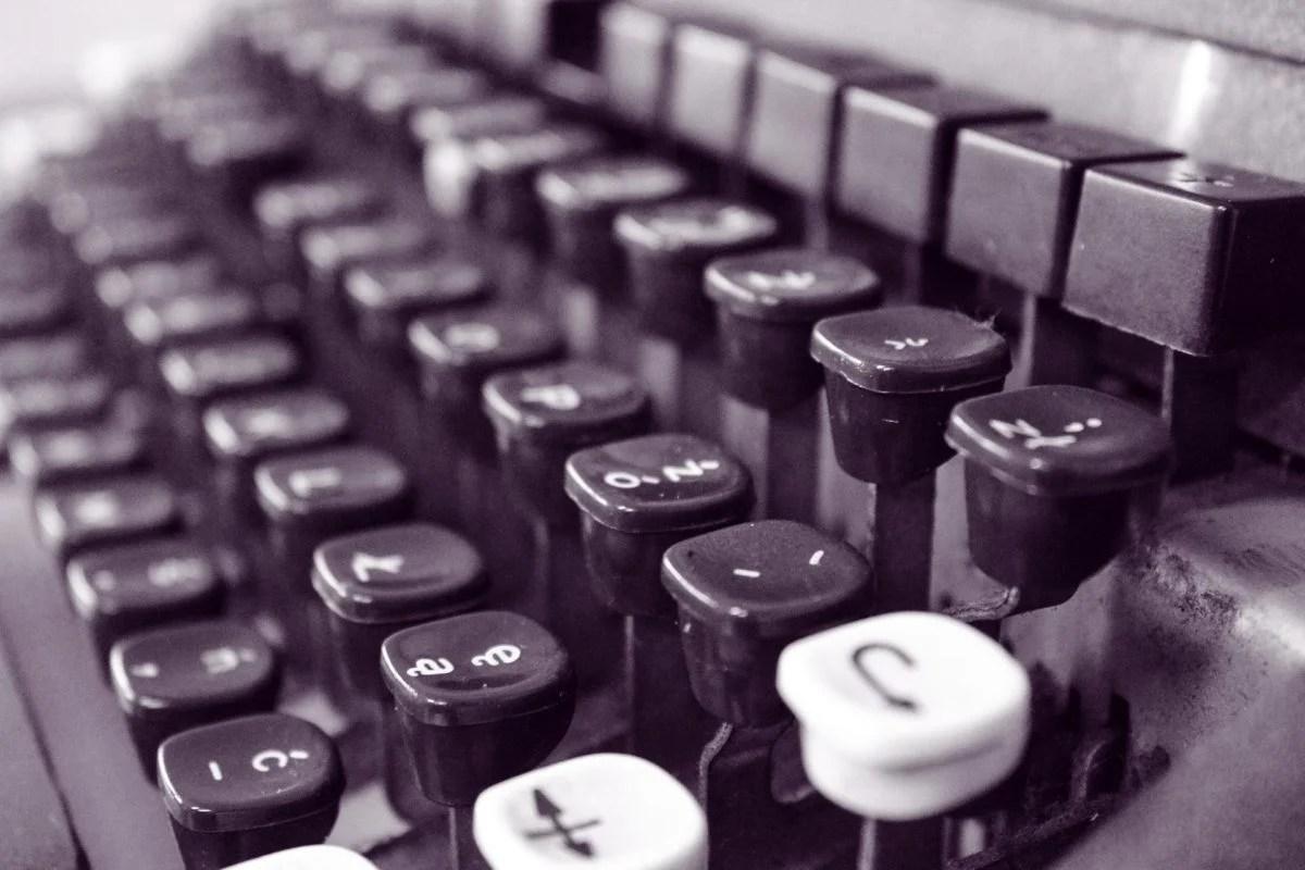 Tastatur einer Schreibmaschine