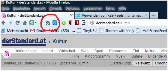 RSS Firefox