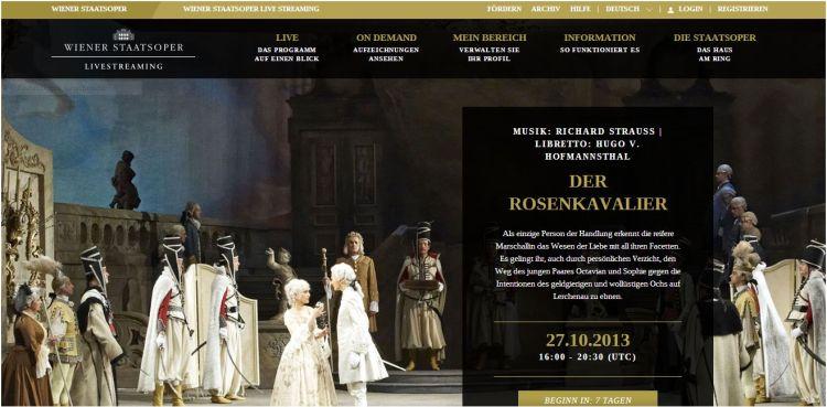 Screen Wiener Staatsoper livestreaming
