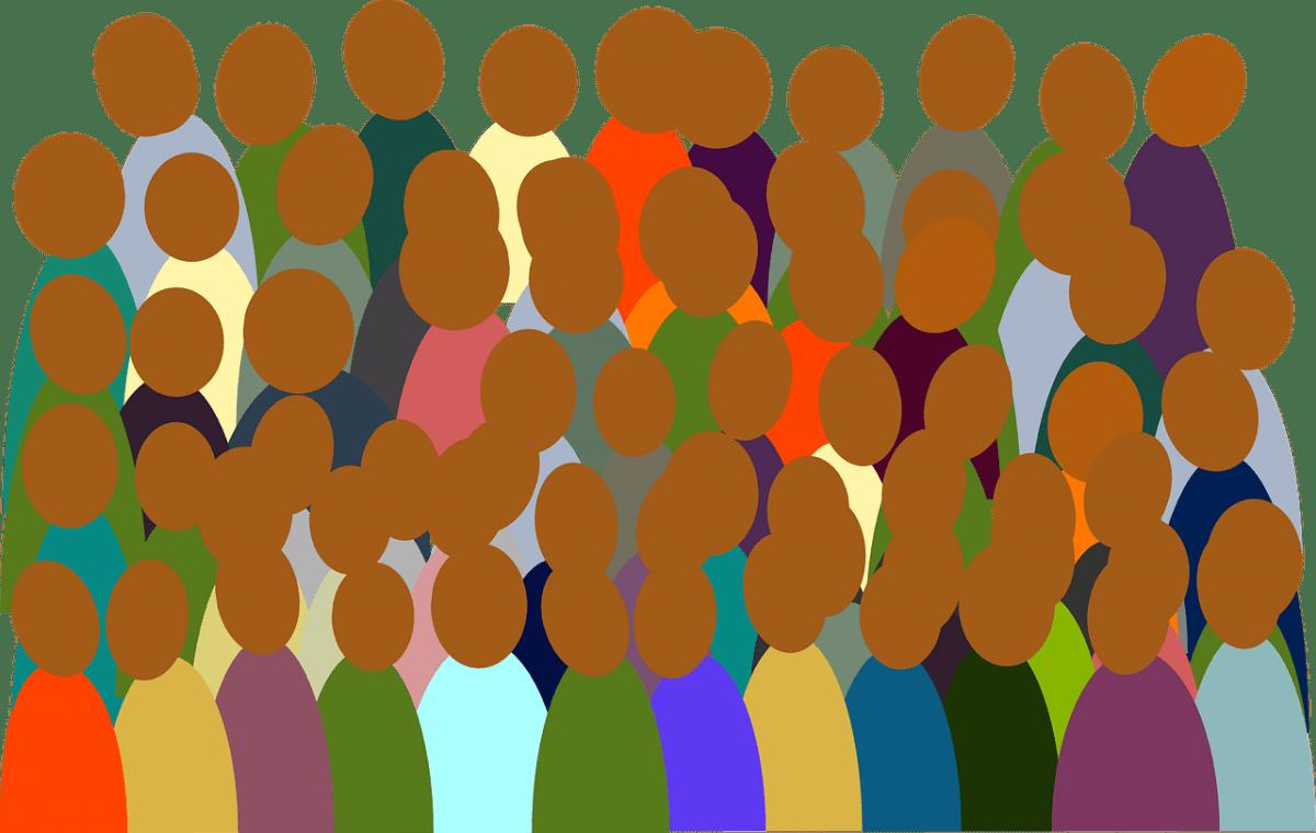 Unterschiedliche Menschen in einer Zielgruppe