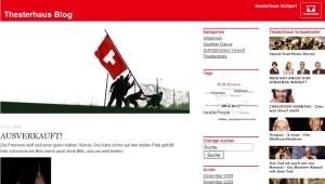 Screen der Blogseite