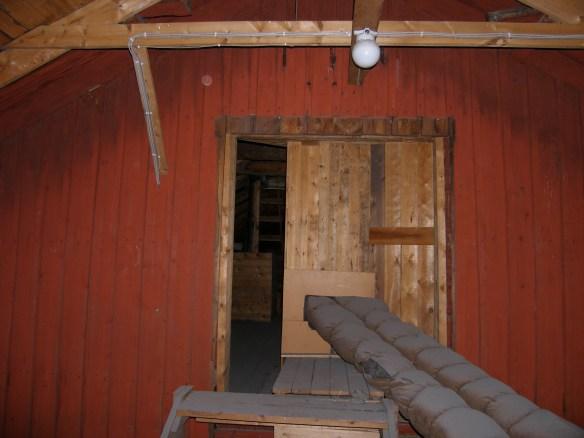 Där fönstret som nu sitter på norra gaveln setat! Foto: Jennie Björklund © Norrbottens museum