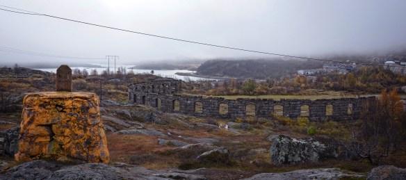 Lokstallsruinen september 2013. Foto: Curt Persson Norrbottens museum 2013.