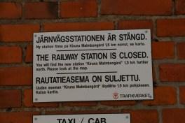 Ny skylt på järnvägsstationen. Foto: Sophie Nyblom ©Norrbottens museum