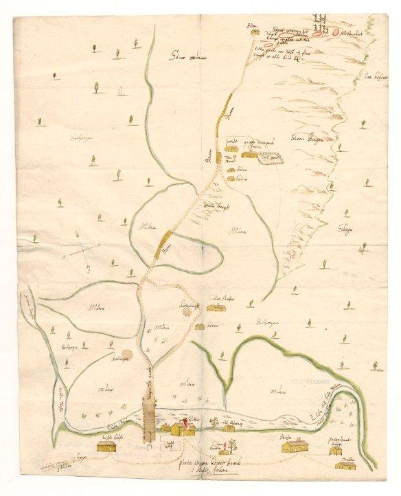 Bild på handritad karta